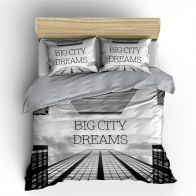 Nightlife Big City Dreams Dekbedovertrek Grey