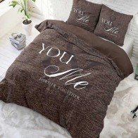 Sleeptime Dekbedovertrek Love For You And Me Taupe