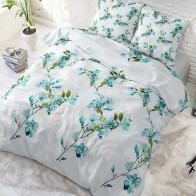 Sleeptime Flower Blush dekbedovertrek Turquoise