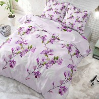 Sleeptime Flower Blush dekbedovertrek Purple