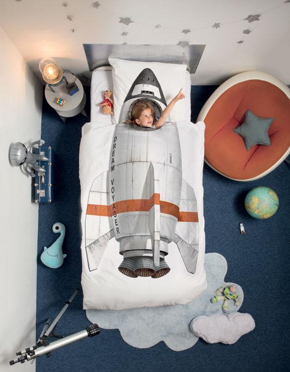 Dagaanbieding - Snurk Dekbedovertrek Rocket-140x200/220 dagelijkse koopjes