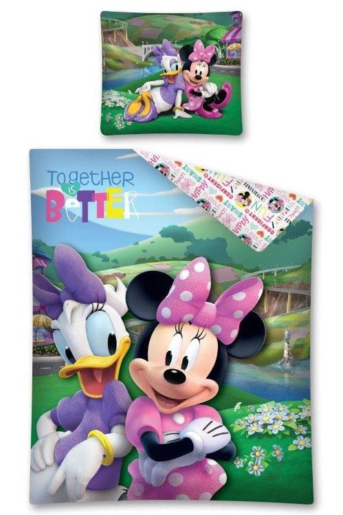 Dagaanbieding - Katrien Duck met Minnie Mouse Dekbedovertrek dagelijkse koopjes