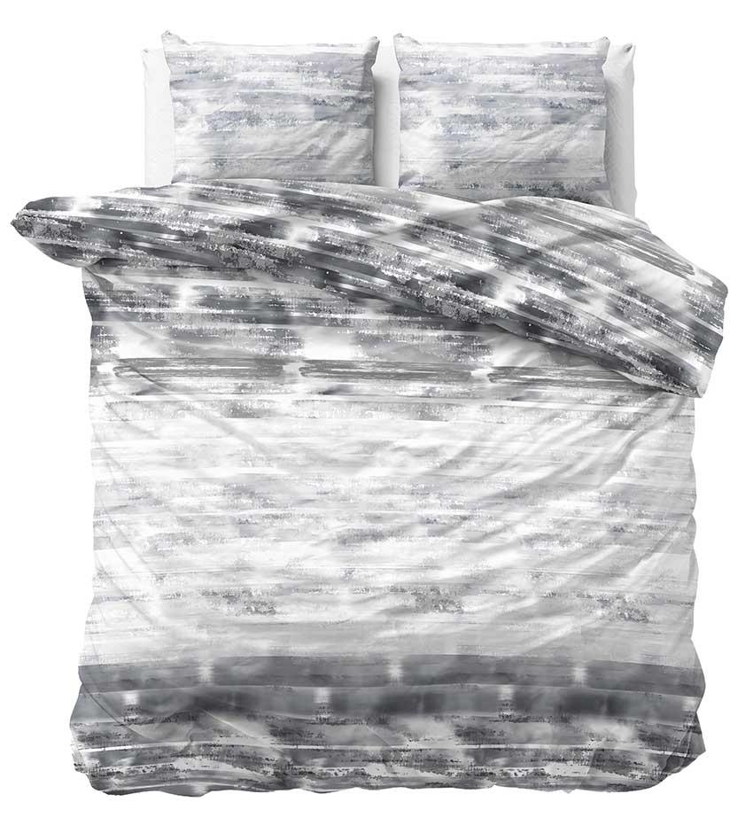 Sleeptime Dekbedovertrek Shibori Tiles Antraciet 240x200 220