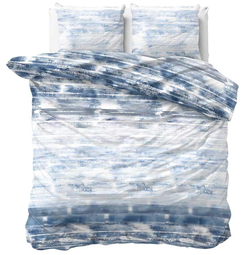 Sleeptime Dekbedovertrek Shibori Tiles Blauw 240x200 220