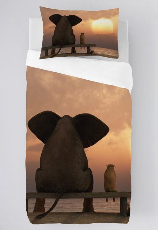 Dagaanbieding - Zavelo Dekbedovertrek Funny Elephant dagelijkse koopjes